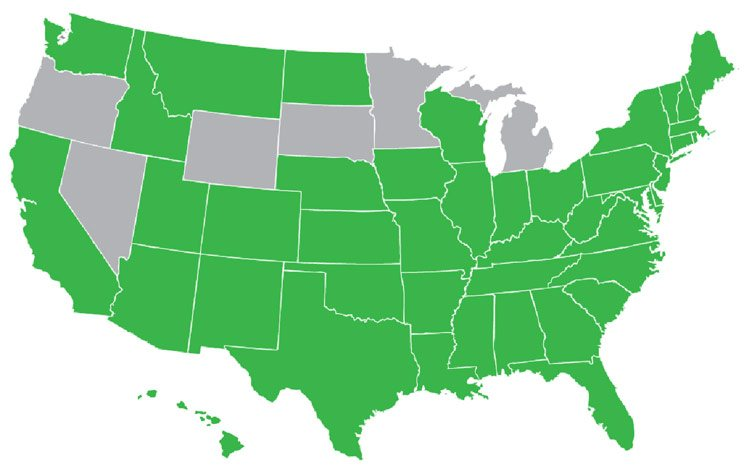 States with hiring credits & incentives.
