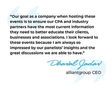 alliantgroup CEO Dhaval Jadav's Quote